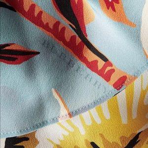 Burberry Dresses - Burberry Women's Floral Flared-hem Silk Skirt